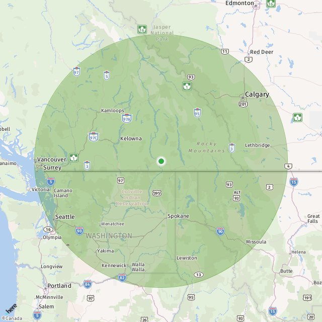 Helicopter EC 120 Range Map Not Available For This Heliport