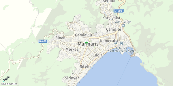 HERE Map of  Marmaris , Turkey