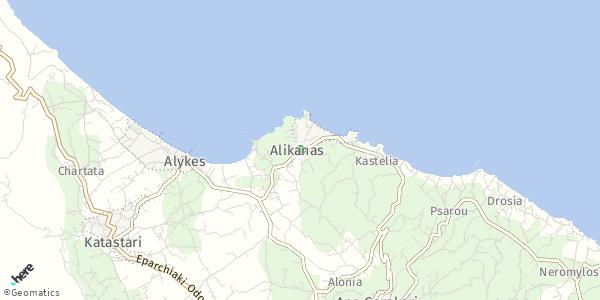 HERE Map of Αλυκανάς, Ελλάδα