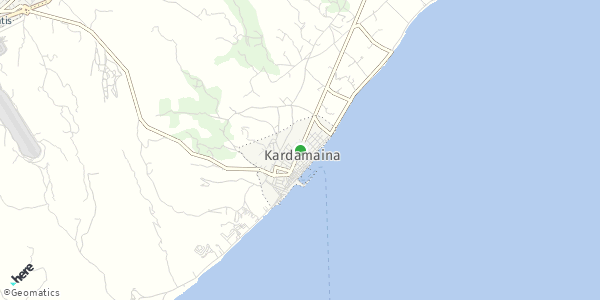 HERE Map of  Καρδάμαινα , Ελλάδα
