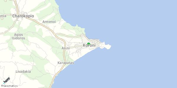 HERE Map of Κορώνη, Ελλάδα
