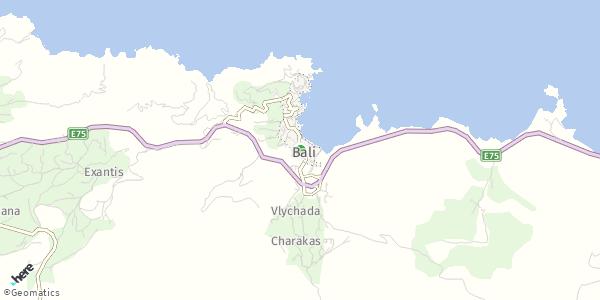 HERE Map of Μπαλί, Ελλάδα