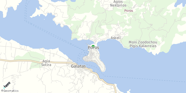 HERE Map of Πόρος, Ελλάδα