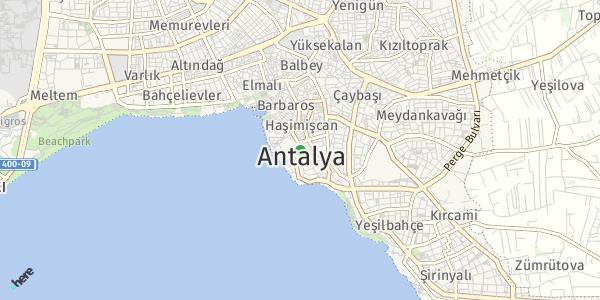 HERE Map of  Antalya , Türkiye