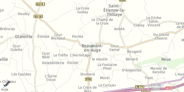 HERE Map of Beaumont-en-Auge, France