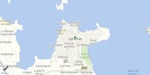 HERE Map of  Carantec , France