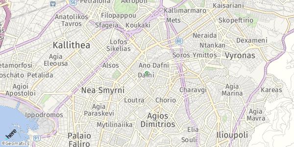 HERE Map of Dáfni, Ελλάδα