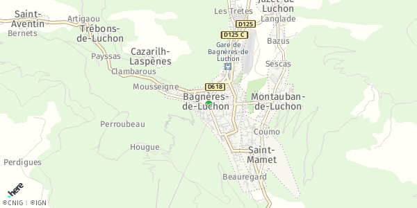 HERE Map of  Luchon , France