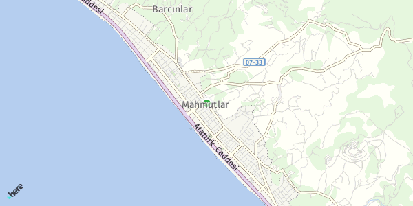 HERE Map of  Mahmutlar , Türkiye