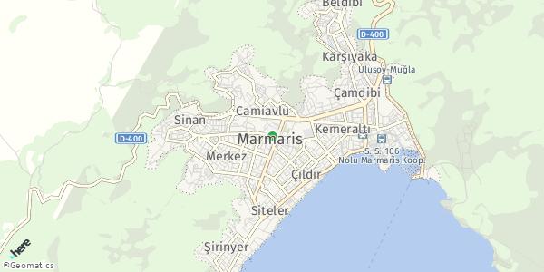 HERE Map of  Marmaris , Turkey