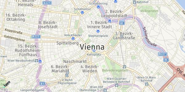 HERE Map of Wien, Österreich